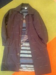 Missoni Sport - Sweater Lined Quilted Overcoat - Char Grey Shell - Sz 50r