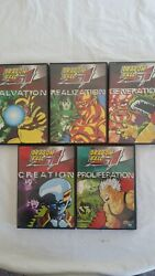 Dvd Movie Video Lot Of 5 Dragon Ball Gt Anime Series Dvdand039s Episodes 5 Volumes