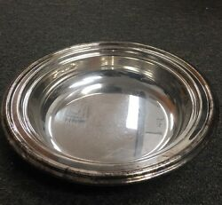 The Sheffield Silver Co Epc Silverplate 9 3/4 In Bowl 1 3/4 In High