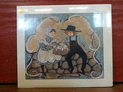 P. Buckley Moss Purrfect Friends Signed Print Sample Rare 2000 Junior Sold Out