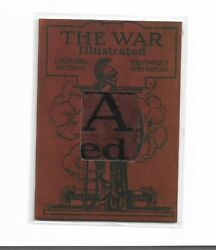 2014 War Illustrated Magazine Cover Cut Artifact Relic Card Ww1 Wi-1 A