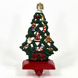 Midwest Of Cannon Falls 8 Holiday Tree Cast Iron Stocking Hanger Christmas Vtg