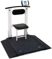 New Detecto 6570 Portable Electronic Handrail Seat Wheelchair Weigh Scale