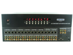 Shinybow 5588ct 8x8 Hdtv Component Video / Digital And Stereo Audio Matrix Routing
