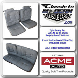1981 - 1987 Regal Bucket Seats With Headrest And Rear Bench Upholstery Set