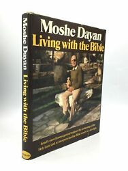 Moshe Dayan / Living With The Bible Signed 1st Edition 1978