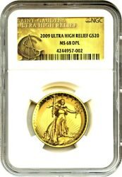 2009 Ultra High Relief $20 NGC MS68 DPL - Very Popular Issue