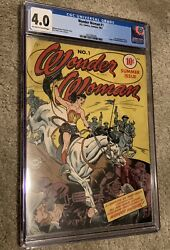 WONDER WOMAN #1 CGC 4.0  OW-WHITE PAGES 2021992005 1ST ISSUE (1942)