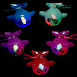 Lumistick 2.75led Lights Flashing Multi Color Twine String Narwhal Necklace Lot