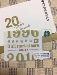 Limited Edition Starbucks Japan Card 2016 Ginza 20th Anniversary Card F/s
