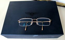 Bentley Motors Ltd. 18K Rose Gold Eyeglasses Frame - Handmade in Germany
