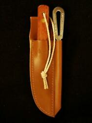 Captain Currey 2-pc Rigging Knife + Marlinspike Kit W/ Leather Sheath