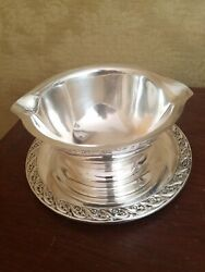 Wm Rogers And Son Spring Flower Victorian Silver Platted Gravy Boat 2013