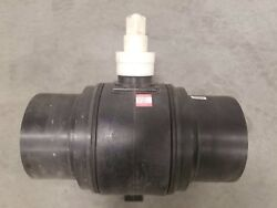 """Kerotest Polyball Hdpe Ball Valve Sdr-11 Pe4710/3408 Reduced Port W/ 2"""" Op. Nut"""