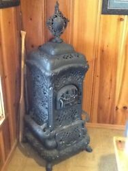 Antique parlor Stove Moore's Air Tight Heater No. 403b