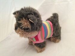 Chilrdren's Place Dog Terrier Stuffed Animal Plush Pre-owned Knit Sweater Stripe