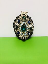Weiss 1950's Large Crystal Brooch
