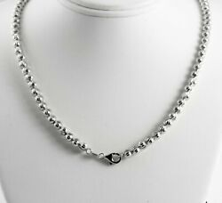 34.17 Gram 14k White Gold Menand039s Womenand039s Bead Moon Cut Chain Necklace 30 5 Mm