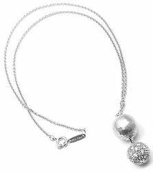 Rare Authentic And Co Paloma Picasso 18k White Gold Diamond Necklace
