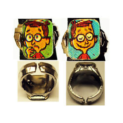 1960's Bullwinkle Sherman Gumball Prize Flicker Ring Super Rare