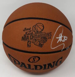 Stephen Curry Autographed B2b Champs Engraved Basketball Steiner Le 1/30