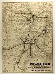 Rare Poole Bros. South-western Railway Systems Map,1870s» Approx 13x9fine