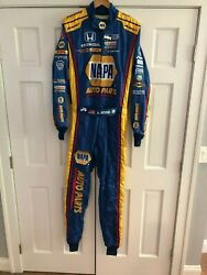 ALEXANDER ROSSIHAND SIGNEDRACE USEDWORN DRIVERS SUIT 2017 SONOMA INDY RACE.