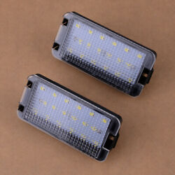 Fit For Seat Leon Mk1 1m 2001-2004 Pair 2-pin Led Number License Plate Light
