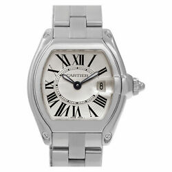 Cartier Roadster W62016V3 Stainless Steel Silver dial 33mm Quartz watch