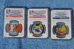 3 Coin Set Of 20 2013-14 Canada Coins Ngc Pf69 Early/first Releases