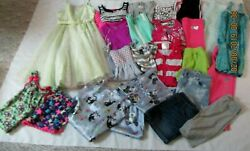 Girls Size 10 And 10/12 Clothes, Spring And Summer Justiceand More Dresses Lot