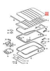 Genuine Vw Polo Derby Vento-ind Fabric Sliding Roof Cover 6n0875101b9qv