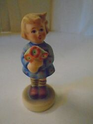 Vintage Hummel Girl With Flowers 239a Tmk 5 W Germany Artist Signed
