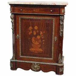 Superb French Rosewood Figural Bronze Mounted Credenza Side Cabinet C1870s