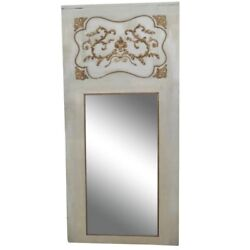 Sophisticated 19th Century Gustavian Swedish Painted Gilded Trumeau Mirror