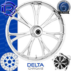 Rotation Delta Chrome Custom Motorcycle Wheel Front Package Harley Fatboy 18