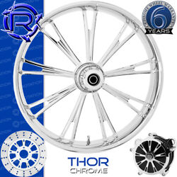 Rotation Thor Chrome Custom Motorcycle Wheel Front Package Harley Fatboy 18