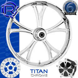 Rotation Titan Chrome Custom Motorcycle Wheel Front Package Harley Fatboy 18