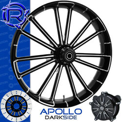 Rotation Apollo Darkside Custom Motorcycle Wheel Front Package Harley Fatboy 18