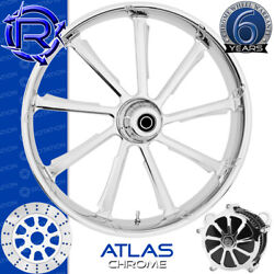 Rotation Atlas Chrome Custom Motorcycle Wheel Front Package Harley Fatboy 18