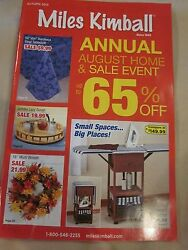 Miles Kimball Autumn 2015 Catalog Look Book August Home And Sale Event Brand New