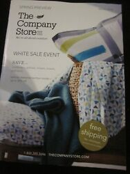 The Company Store Catalog January 2018 Spirng Preview White Sale Event Brand New