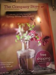 The Company Store Catalog Look Book January 2013 Spring White Sale Event New