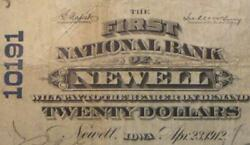 Newell Iowa Ia 1902 20.00 Ch. 10191 The First National Bank Pmg Fine 12
