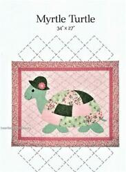 Myrtle Turtle Applique Pieced Wall Baby Quilt Pattern New