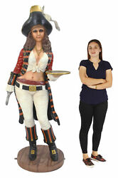 Lady Pirate Standing Life Size Statue - Theme Decor - Lady Pirate 6.5ft.
