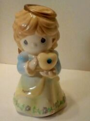 Precious Moments March Birthday Angel Bank Pre Owned