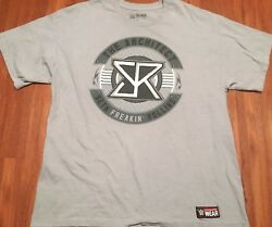 WWE Slam Crate Seth Rollins T Shirt Short Sleeve Crew Gray size xl
