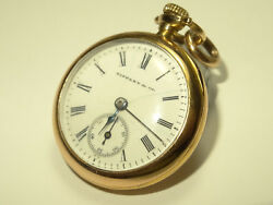 Small Antique And Co. 18k Solid Gold 26mm Pendant Pocket Watch Circa 1915