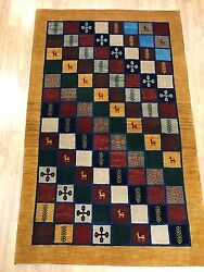 3and0397 X 5and0397 New Indian Tribal Oriental Rug - Hand Made - 100 Wool